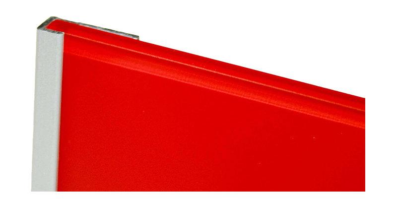 Lustrolite Edge Cap Profile (Matt Aluminium)