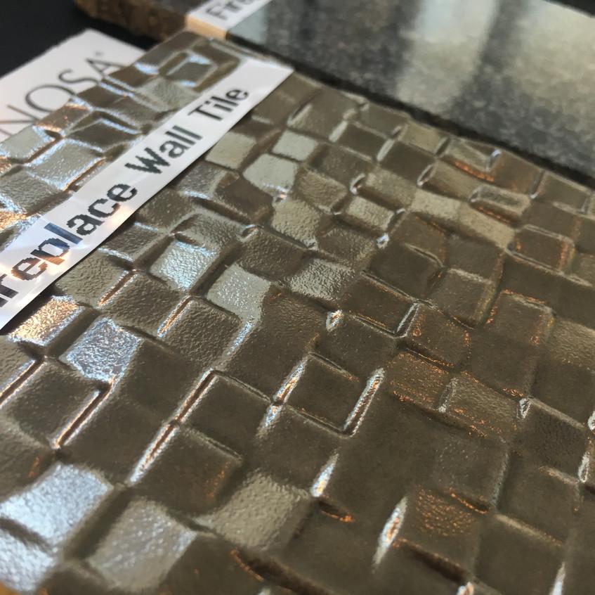 Fireplace wall tile option