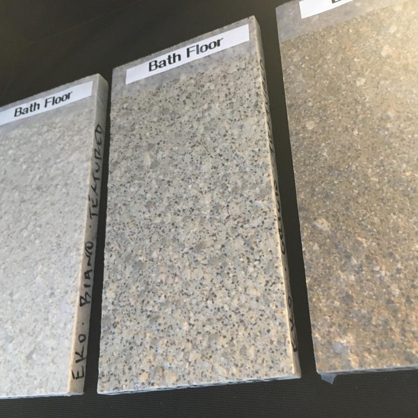 Bathroom floor options