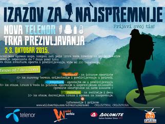 Sedma trka preživljavanja Wild Serbia i Telenor, na Zlataru od 01 - 04.10.2015.  AVANTURA POČINJE...