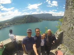 Brasileiros no Lago de Bled