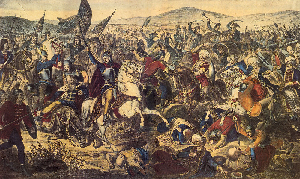 Representação da Batalha do Kosovo. Autor desconhecido.