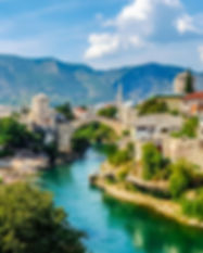 Mostar Bosnia and Herzegovina. View of t