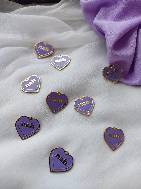 Nah Purple Heart Charm
