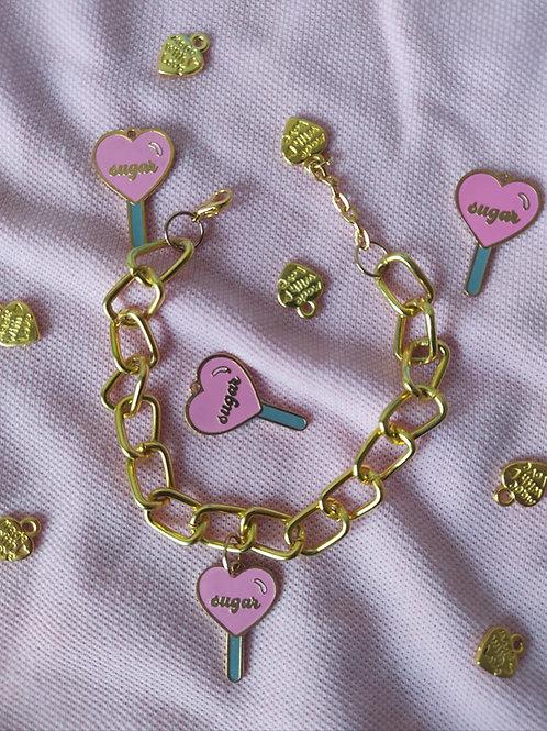 Sugar Lollipop Charm Bracelet