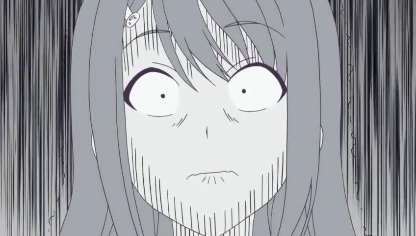 President in Aho Girl Anime Shocked Face Pencil Sketch