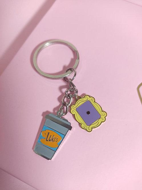 Friends x Gilmore Girls Keychain