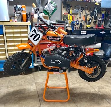 mini bike orange