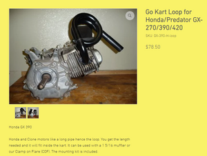 Go Kart Loop for Honda/Predator GX-270/390/420