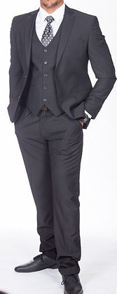 Custom Black 3 Piece Suit