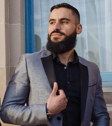 Light Grey Tux Style Blazer