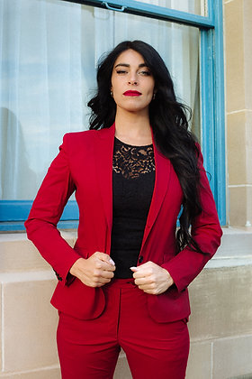 Rose Red Business Suit