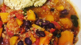 Black Bean Quinoa Chili with Butternut Squash
