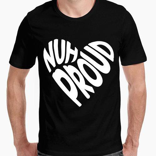 Camiseta NuhProud logo corazon BLANCA