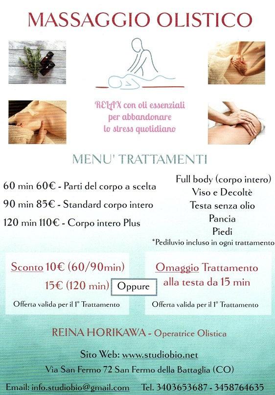 Promozione Massaggio Olistico