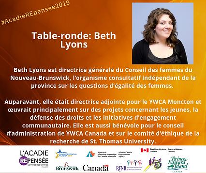 Canevas Facebook Beth Lyons - Sommet des