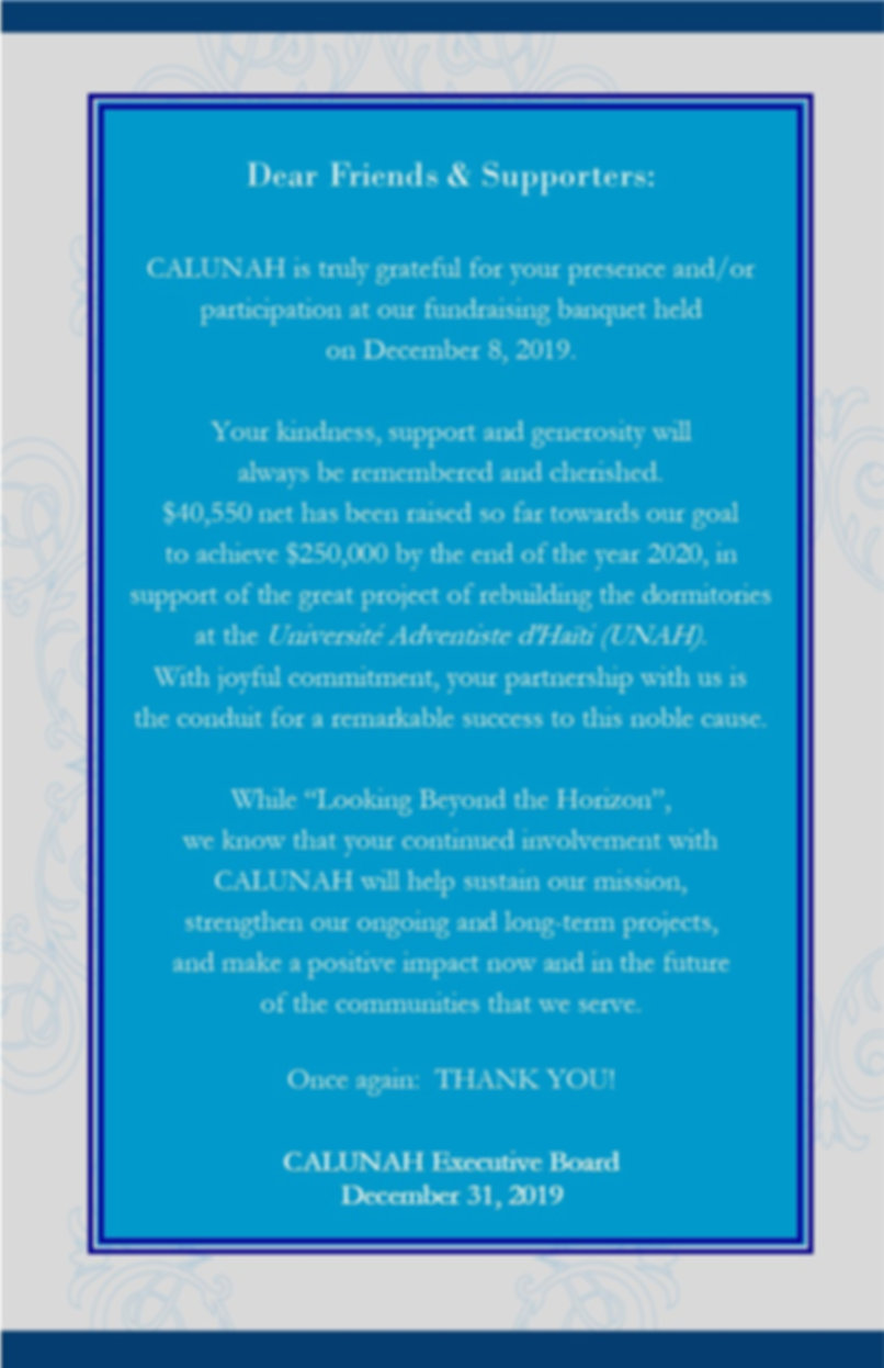 Friends-Supporters- Thank You Card CALUN