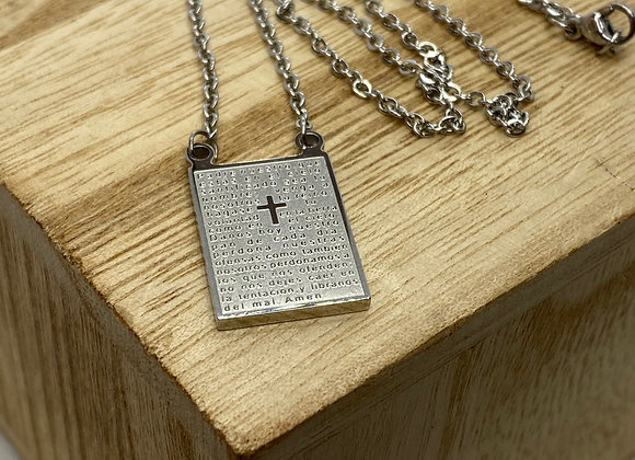 Scapular necklace, Stainless Steel