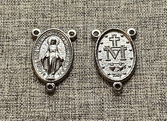 Miraculous Medal rosary connector