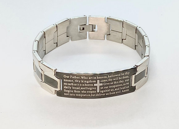 Bracelet men Our Father, stainless steel.