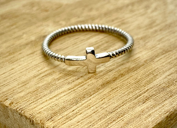 Sterling Silver Ring Cross