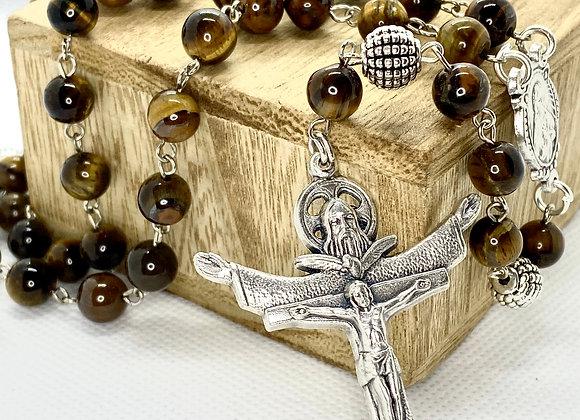 Rosary , necklace Trinity Cross