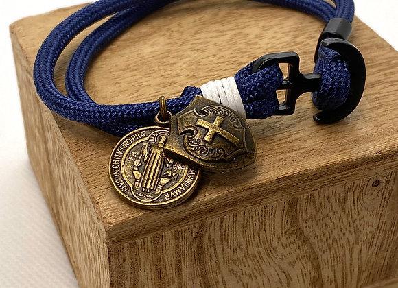bracelet Saint Benedict & Shield