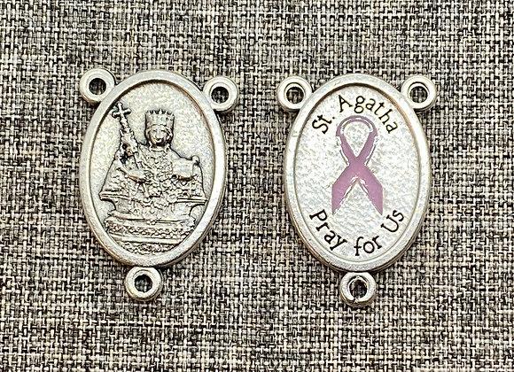 St Agatha medal connector