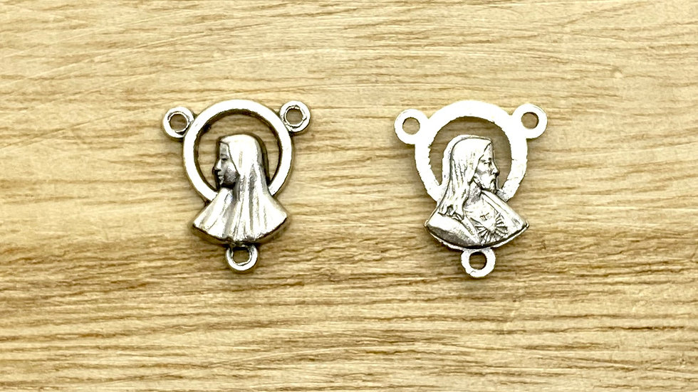 Rosary Connector, Our Lady, Italian metal,