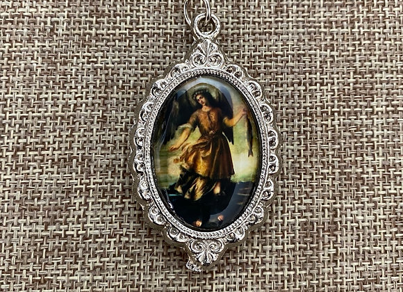 St. Raphael, the archangel color medal