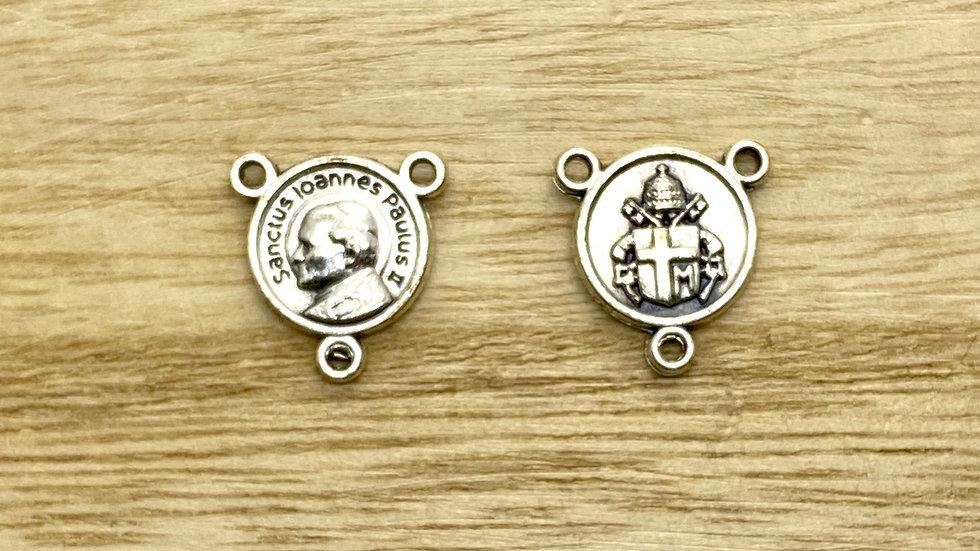 Rosary Connector,  John Paul II, Italian metal.