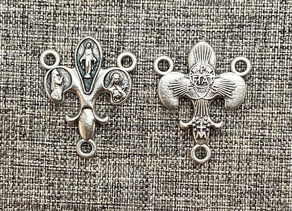 Miraculous /Bernadette / S.Teresa medal connector