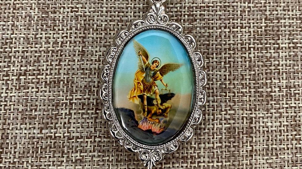 St. Michael Archangel color medal