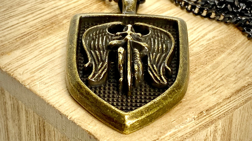 Saint Michael Archangel pendant, Stainless Steel Chain