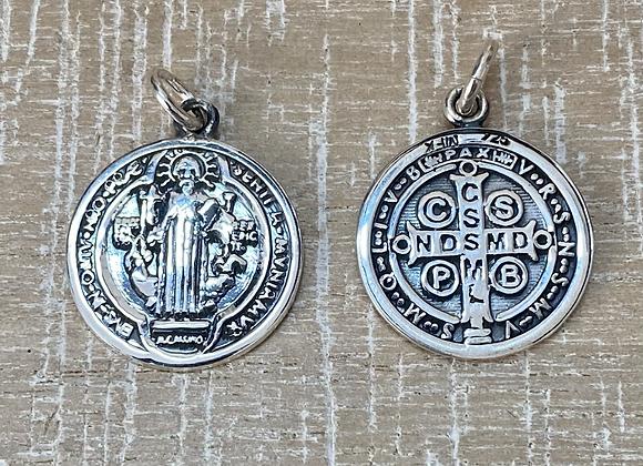 St. Benedict medal, Sterling Silver 925