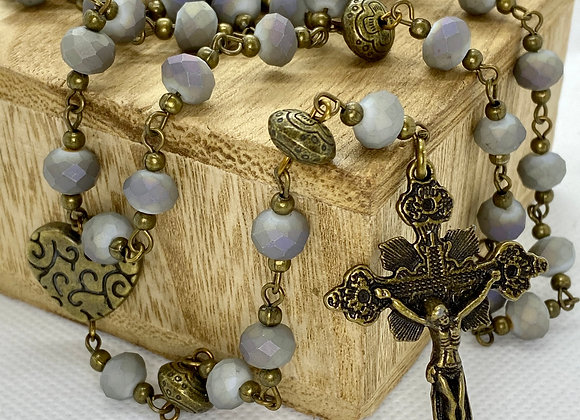 Rosary,  Necklace Bronce color