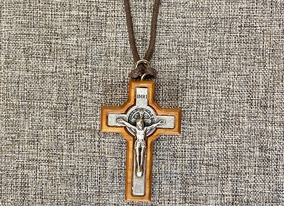 Crucifix, Saint Benedict Olive wood Crucifix.