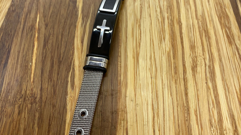 bracelet Stainless Steel two tone with Cross