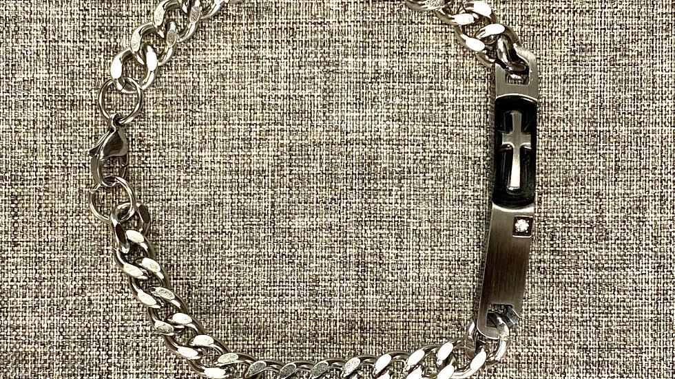 Bracelet men, Stainless steel metal
