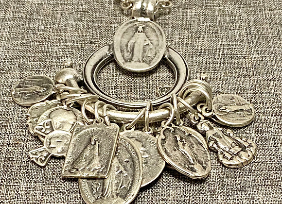 Necklace Miraculous Medal and all the Saints.