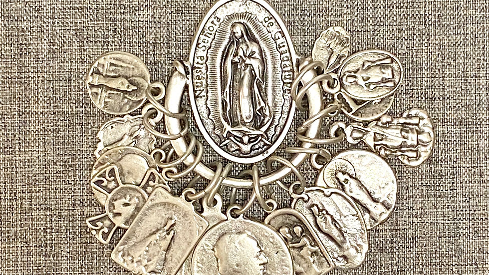 Necklace Guadalupe and all Saints