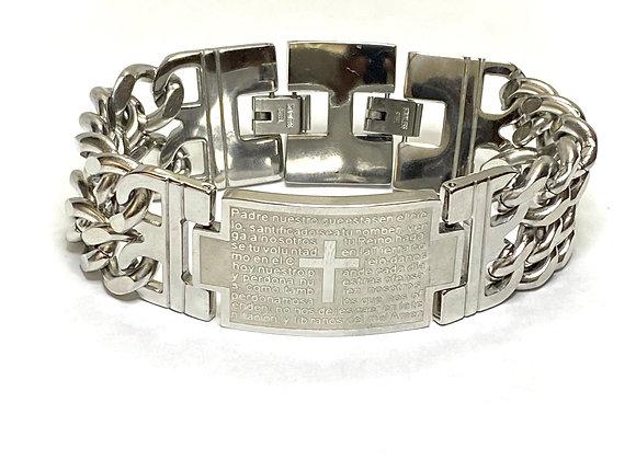 Bracelet men, stainless steel metal.