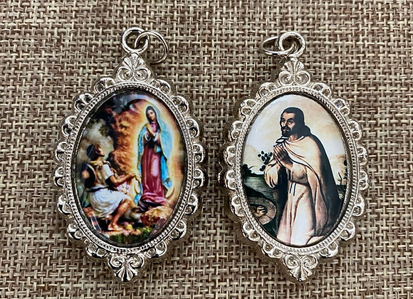 Guadalupe & Saint Juan Diego color medal