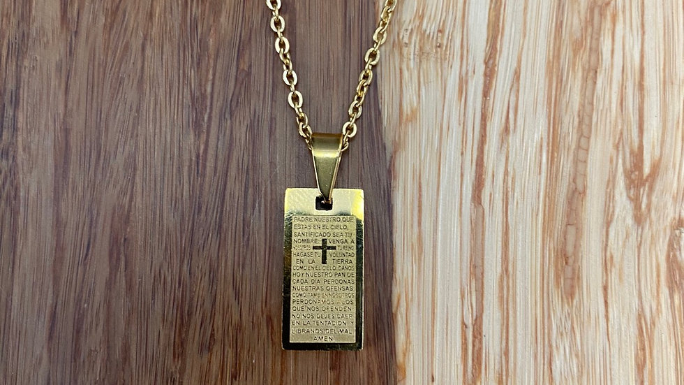 Stainless steel Lord's Prayer necklace
