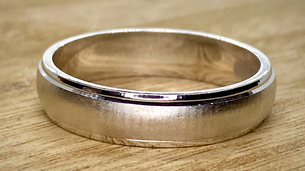 Sterling Silver Ring, Wedding band