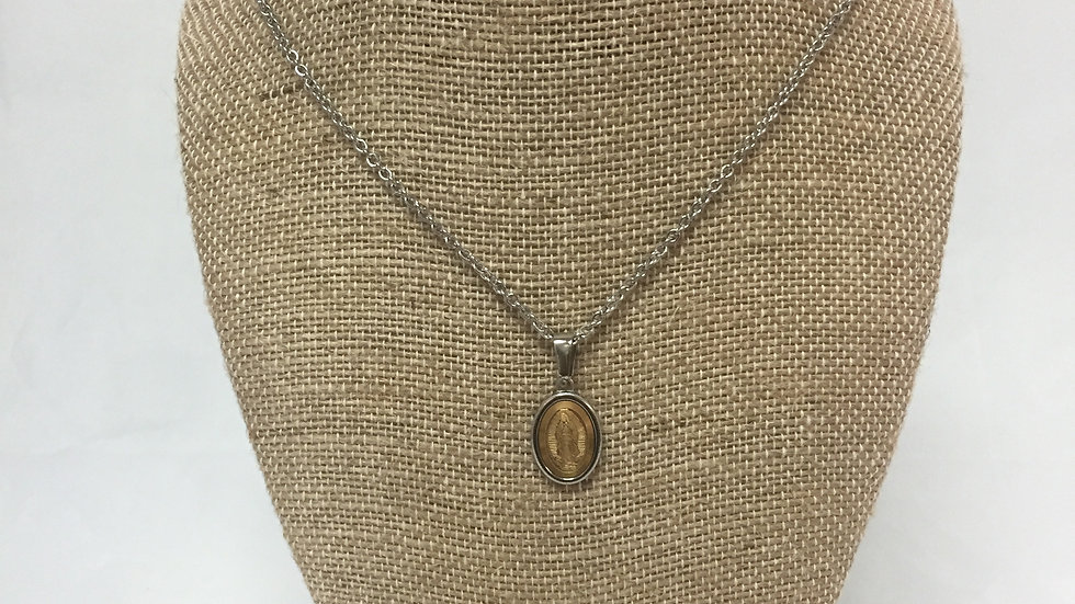 Stainless Steel OL Guadalupe Necklace