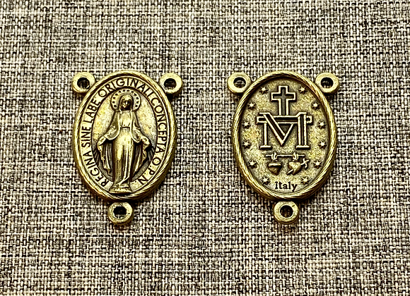 Miraculous Medal Rosary Connector.