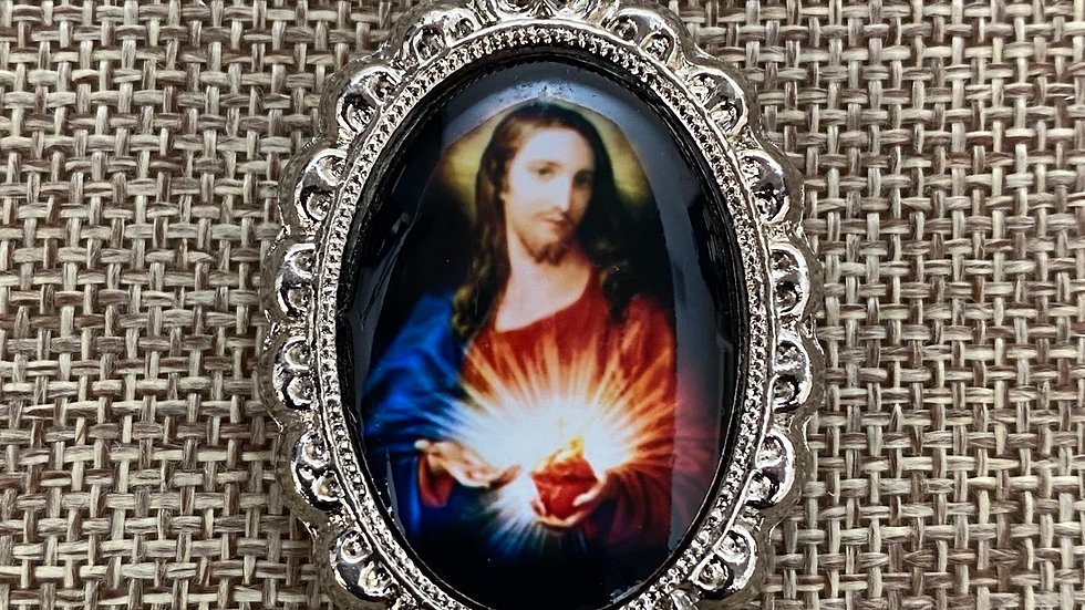 Sacred Heart of Jesus color medal