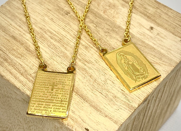 Scapular, Stainless Steel, gold color