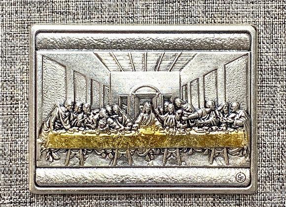 Last Supper metal plaque.